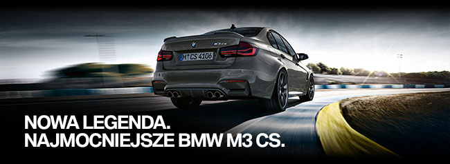 Nowa legenda. Najmocniejsze BMW M3 CS.